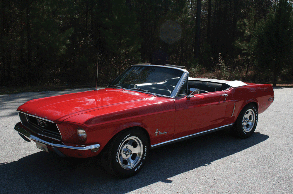 Red Convertible Classic Antique Mustang